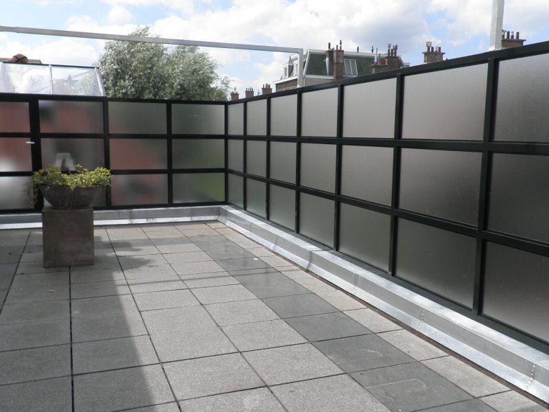 Batist terrasscherm